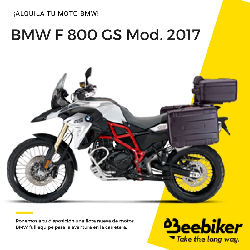 alquiler moto bmw f 800 gs beebiker. Black Bedroom Furniture Sets. Home Design Ideas